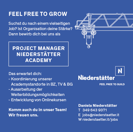 Project Manager Niederstätter Academy (w/m)