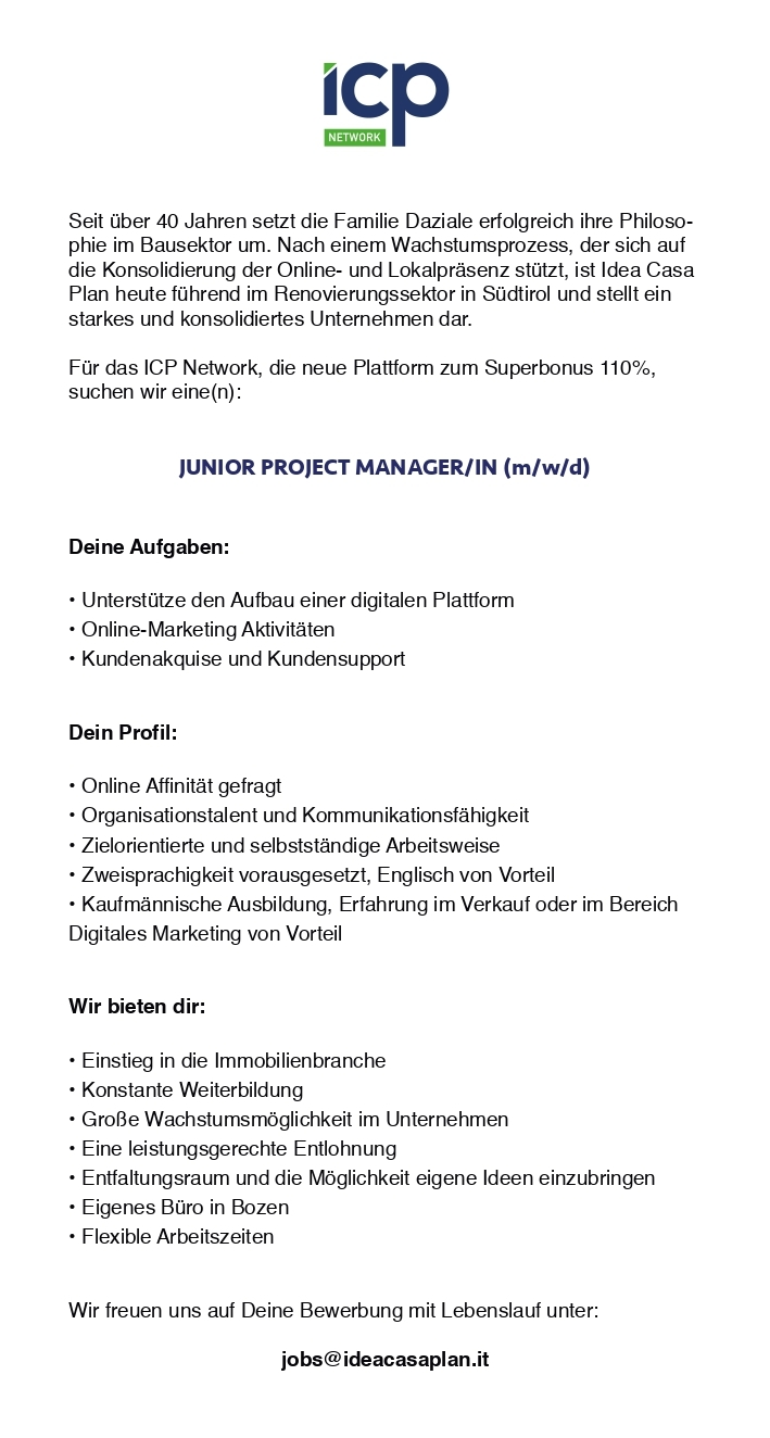 Junior Project Manager (m/w/d)